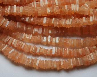 15 Inch Strand, Super Finest-Quality-Peach OPAL Square HEISHI Cut Beads,4-4.5mm size