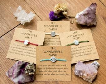 The Wanderful Wish Bracelet - Travel Adventure Globe Bead Bracelet, 4 colors