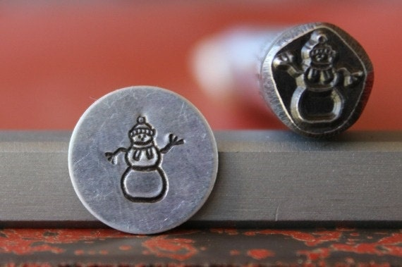 Snowman Steel Stamp Perfect for Metal Stamping and Jewelry Design Metal Work  SGDK-23