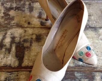 Vintage Linen Shoes