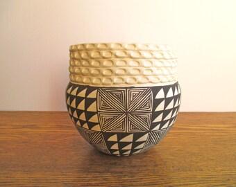 Vintage Virgie Garcia Acoma Pottery Vase