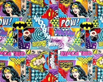 Girl Power II - Wonder Woman, Bat Girl & Super Girl - Camelot Fabrics - DC Comics   23400401