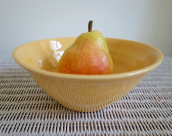 Sunny Yellow Handmade Pottery Bowl - Wheel Thrown Pottery