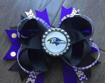 Baltimore Ravens Hair Bow