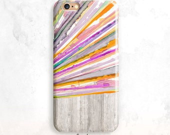 iPhone 7 Case, Colorful iPhone 6S Case, Watercolor iPhone SE Case, iPhone 6 Slim Case, iPhone 5, Fun iPhone 6 Case, Wood iPhone 7 Case
