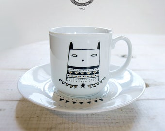 """cup """"bunny"""" HAND PAINTING"""