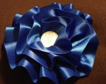 Blue Flower Hair Clip / Hair Bow
