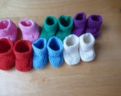 "Waldorf Doll's shoes. Lovely knitted little doll's shoes for your 14 - 16""  (36-40 cm) dress-up Waldorf Dolls."