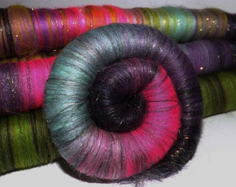Rolags, punis for spinning - Northern Brights - 4 Oz