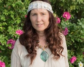 Gypsy Bohemian Alternative Bridal Head Dress Festival Hippie Hippy Stevie Nicks Style