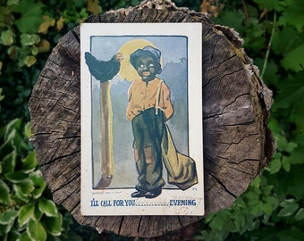 Vintage J Tully Black Americana Fill in the Blank Postcard # 271 Dated 1907