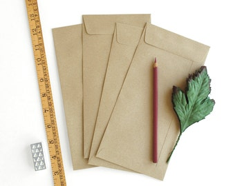"50 Brown Kraft Open End Envelopes - C6/C5 (4 1/2""x9 1/4"") - For international A4 paper folded into third"