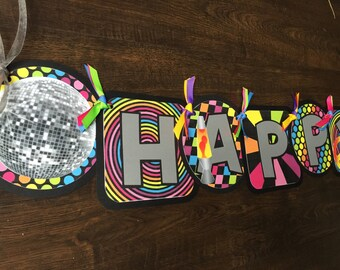70's Disco Party Happy Birthday Banner