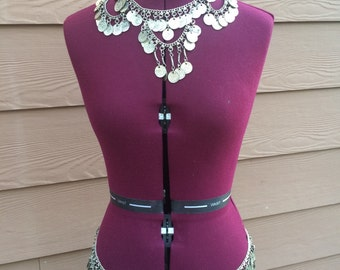 Belly dancing coin belt and necklace