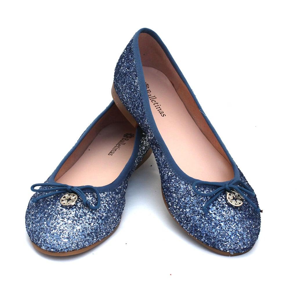 Faith Black Glitter Slip On Shoes