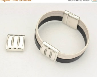 up to 40% Off 20MM Bracelet Stripe Slider - Leather Cord Finding  -  for use with various Leather including 5mm - 20mm Flat Leather Cord  -