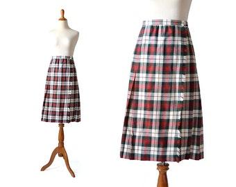 Plaid Skirt / Kilt  Christmas Skirt / Plaid Skirt / Large Skirt / Blanket Skirt Wrap Skirt Women Bottom Skirts/ Vintage Clothing Skirts