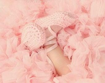Ballerina Booties Crochet Ballet Slippers for Newborns in 5 Colors