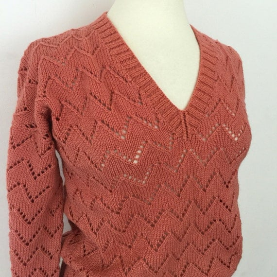 vintage handknit sweater 1940s style jumper handknitted dusky pink WW2 reinactor knitwear make do and mend style Goodwood