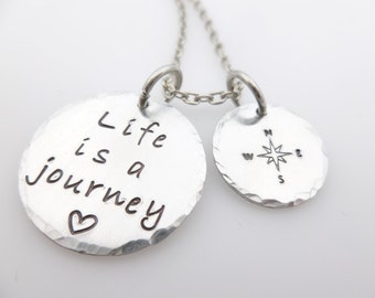 Inspirational Jewelry - Life is a Journey - Gift for daughter - Graduation gift -  high school grad - college graduate - gift for sister