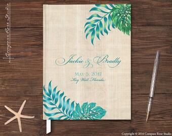 Tropical Wedding Guest Book, Palm Leaf Guest Book, Destination Wedding Guest Book, Elopement Reception Guestbook, Custom Journal
