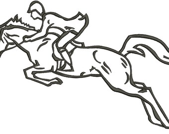 Rider on the horse Machine Embroidery design