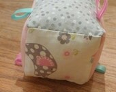 Soft fabric baby block toy