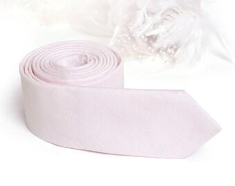 Blush Pink Tie  Men's skinny tie  Wedding Ties Necktie for Men FREE GIFT