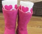 VALENTINE HEARTS Fingerless Gloves and Boot Cuffs