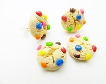 smartie cookies earring studs