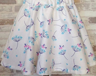 Wildflower girls & baby full circle 50's twirly skirt custom made 0-8 years