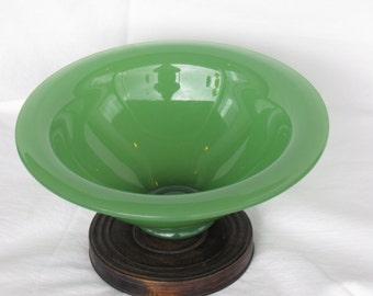 19th Century Scarce Green Peking Glass Bowl VISUALLY STUNNING