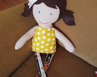 Sweet Caroline ~ Handmade Fabric Doll