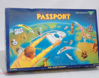 Electronic Passport Geography Game from Texas Instruments 1991 COMPLETE