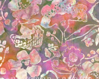 Sale Pink Floral Fabric- Multicolor Fabric-- Cotton Fabric- 1 yard