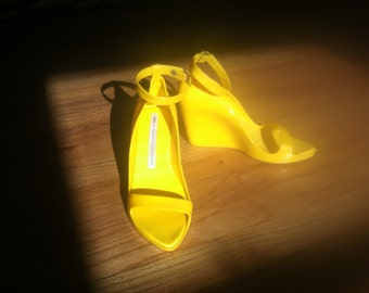 Melissa for Alexandre Hercovitch Shoes - Yellow plastic