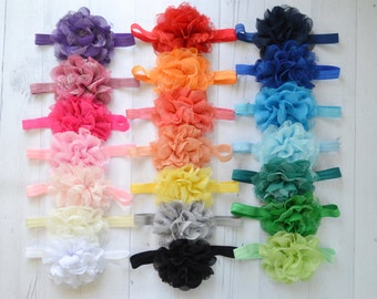 PICK ANY color large lace flower headband ,Baby headband, newborn headbands, infant headband, hair bow, baby gift set, large bow