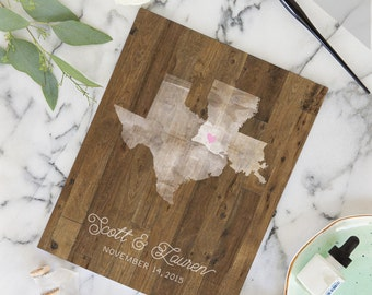 Rustic Wedding Guest Book - Rustic Wedding Guest Sign In Book - Country Wedding Guest Book - Rustic Wood Guest Book