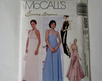 McCalls 2529 Sewing Pattern Wedding Dress Bridesmaid Sheer Bodice Lace Evening Elegance Size 10 12 14 or 16 18 20 UNCUT