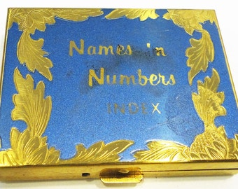 Brass Square Compact Names N Numbers Purse Size Travel