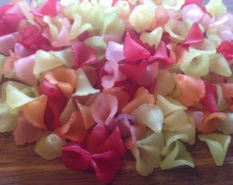 50 pcs frosted Acrylic Beads, Calla Lily, Mixed Color