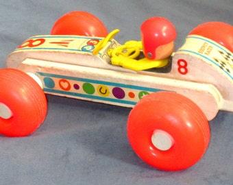 Fisher-Price Toy #8 Bouncy Racer 1963-72