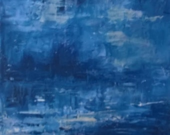 Abstract Landscape /Gift/ FREE UK POSTAGE/ Abstract/ Ready to hang/ Painting/ Original Art