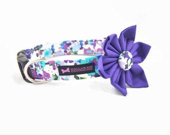 Purple Dog Collar Flower Set Madison