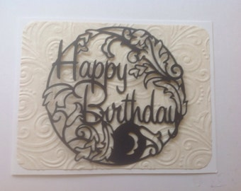 Simply Silhouettes-Make It Yourself-Greeting Card Toppers-Happy Birthday- Quick, Easy, Cheap