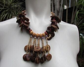 Funky Hippie Boho Beach Beaded Dangle necklace