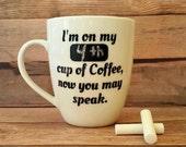 I need My Coffee, 12 ounce Coffee Mug, Coffee Addict Mug, Keep Track of your Coffee Stats like a Pro
