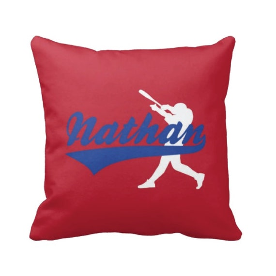 Baseball Throw Pillow & Cover Personalized Custom Boy s