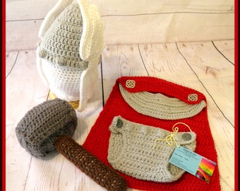 Crochet Thor Inspired Baby Outfit/Photo Prop