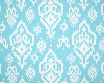 Raji Sky Blue Premier Print Fabric One Yard White And Aqua Blue Home Decor